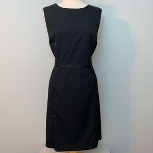 Teeny polka dots black/white sheath dress